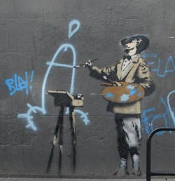 Idiot Artist Banksy Comes To New York