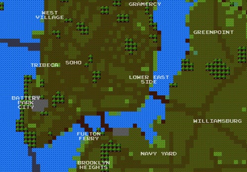 8-Bit NYC Map Turns New York Into Hyrule