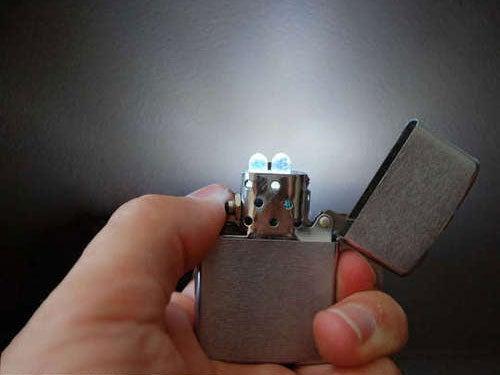 Turn a Zippo Lighter into an LED Flashlight