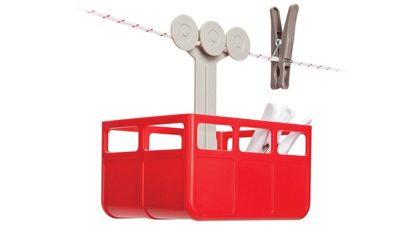 This Clothespin Cable Car Manages to Make Laundry Day Less Depressing