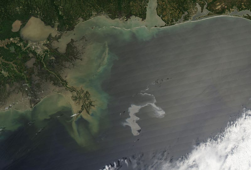 Imagine This 600-Square-Mile Oil Slick... On Fire