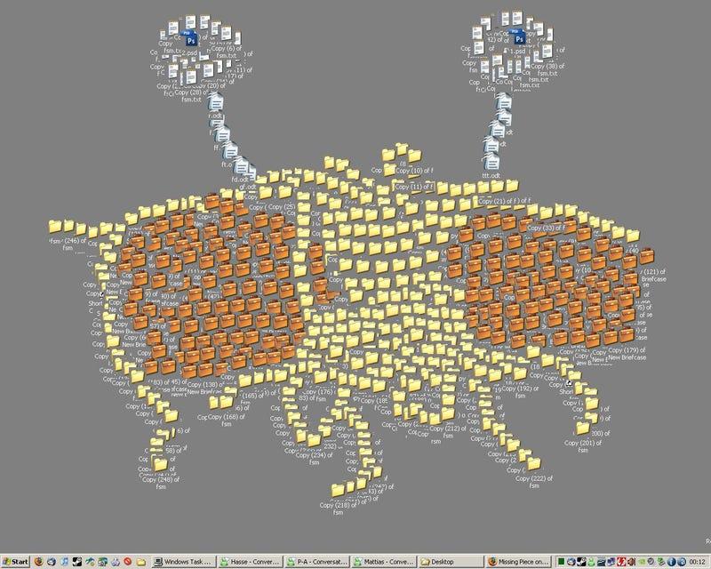 Desktop Clutter Art A Go-Go