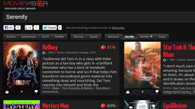 Movievisor Finds Films You Might Like, Shows Where You Can Watch Them