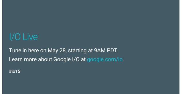 Watch the Google I/O Keynote Here, Live