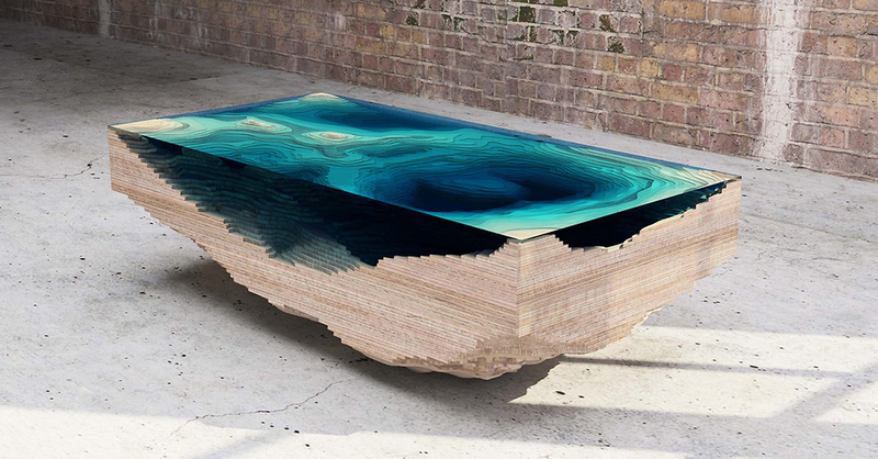 Topographic Tables Mix Geology With Interior Design