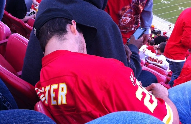 Chiefs Fan Passes Out, Wakes Up, Pisses Himself, Keeps Watching Game