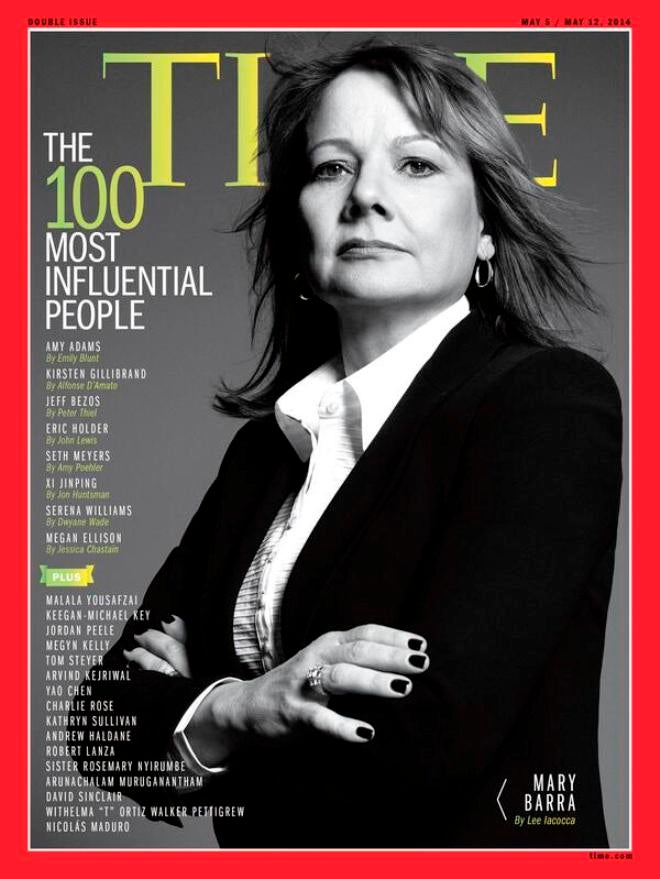 Mary Barra Gets TIME Cover After Testifying She's Not Influential