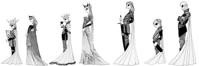 Beautiful black-and-white illustrations put a gothic spin on Game of Thrones
