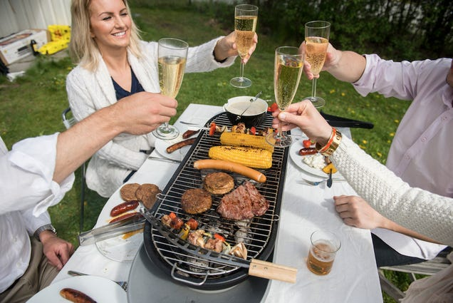 Every Guest Can Be Their Own Grillmaster With this Tabletop BBQ