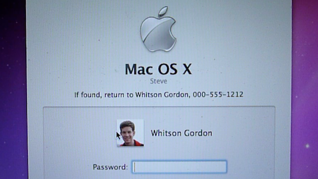 Add Contact Information to Your Mac's Login Screen