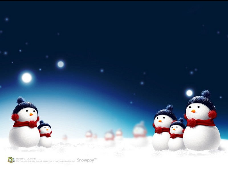 Wallpaper Roundup: Holiday Cheer and Happy Snowmen