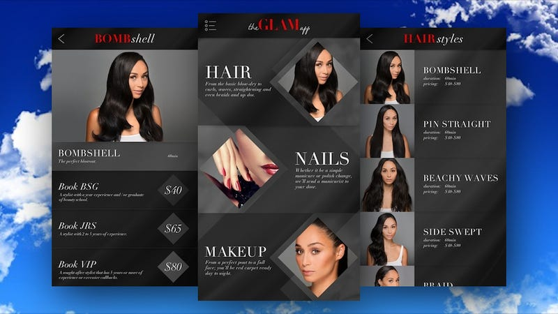 Glam for iPhone Connects You to On-Demand Hair, Makeup, and Nail Stylists