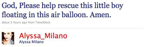 "Celebs Tweet About ""Balloon Boy"""