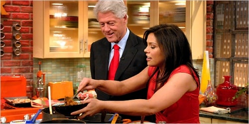 Rachael Ray And Bill Clinton Team Up To Provide Material For Lazy Joke Writers