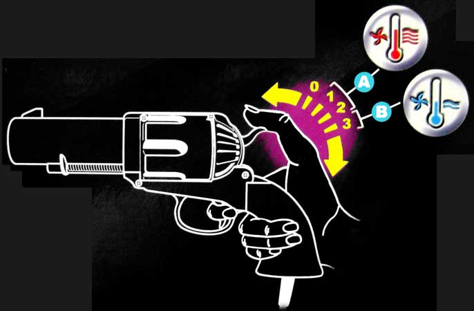 Gun Hairdryer Kills Wet Hair, Self-Respect