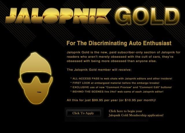 Jalopnik Gold Memberships have Lapsed