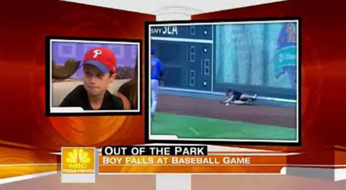 Kid Who Fell Onto Field Further Traumatized By Dopey Matt Lauer Interview