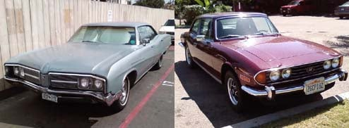 San Diego Serenade: Triumph Stag and Buick LeSabre