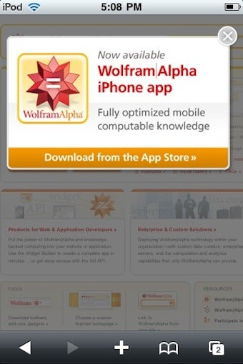 Wolfram Alpha Is Tired Of People Not Paying $50 Dollars For Their iPhone App