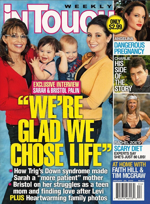 Sarah & Bristol Palin In Touch Cover Leaves Tabloid Readers Cold