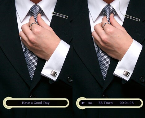 Tie Clip Plays Tunes, Exposes Your Dorkiness