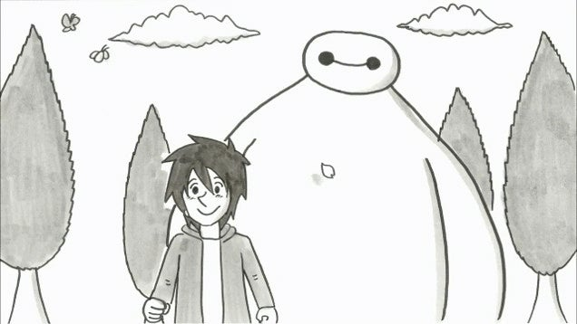 Big Hero 6 Makes for Touching Flipbook Animation