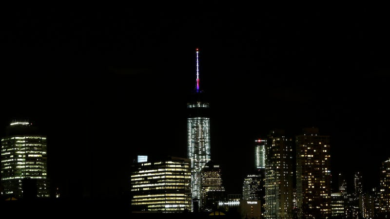 1 World Trade Center Lit Up For The First Time Last Night