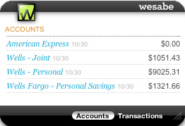 Manage Your Money with Wesabe Dashboard Widget