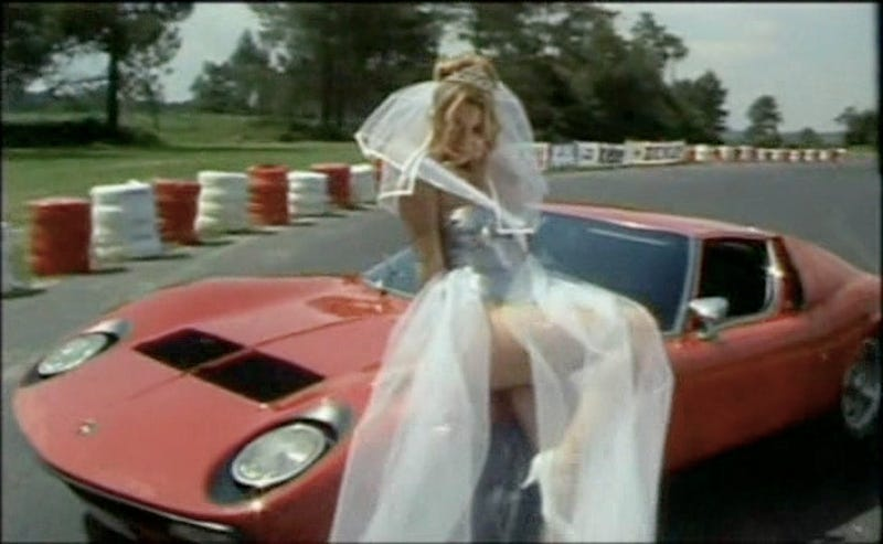 Marvelous Lambo Miura Film with Crashes and Scantily-Clad Brides