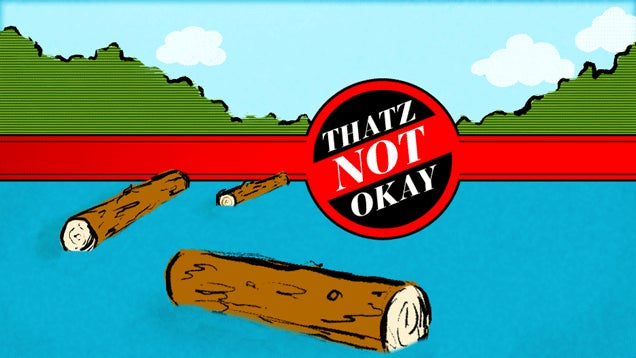 Thatz Not Okay: Can a Man Poop in a Lake?