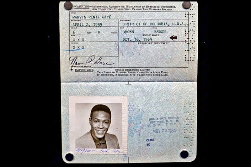 Marvin Gaye's Lost Passport Found in Record Bought at Garage Sale