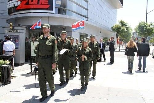 Fake North Korean Army Invades E3