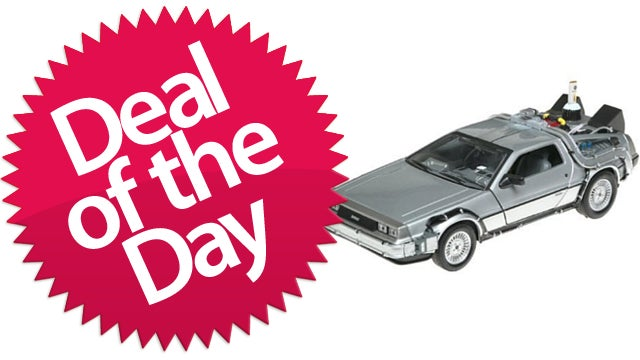 Back To The Future Delorean Diecast-Metal Replica Is Your Great-Scott Deal of the Day