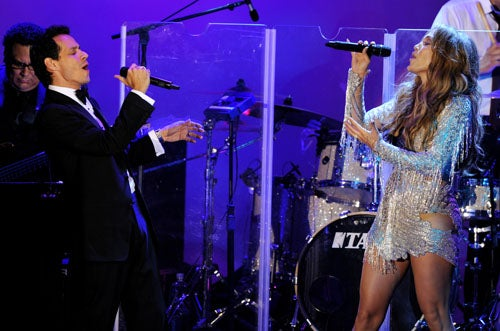 J.Lo And Marc Anthony Sing Like Nobody's Listening