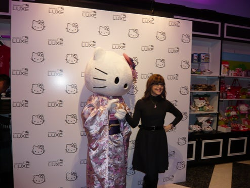 Hello Kitty & Random Celebs Get Catty At Sanrio Luxe Store Opening