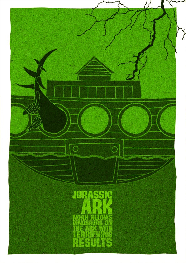 What happens when you remove one letter from a movie title? How about Jurassic Ark?