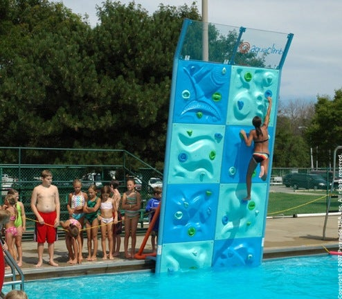 AquaClimb Poolside Climbing Walls: The Next Best Thing To Everest