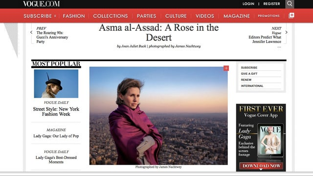 How Vogue Covers the Mideast Crisis