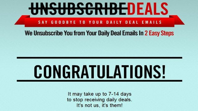 Unsubscribe Deals Removes Daily Deals Emails from Gmail