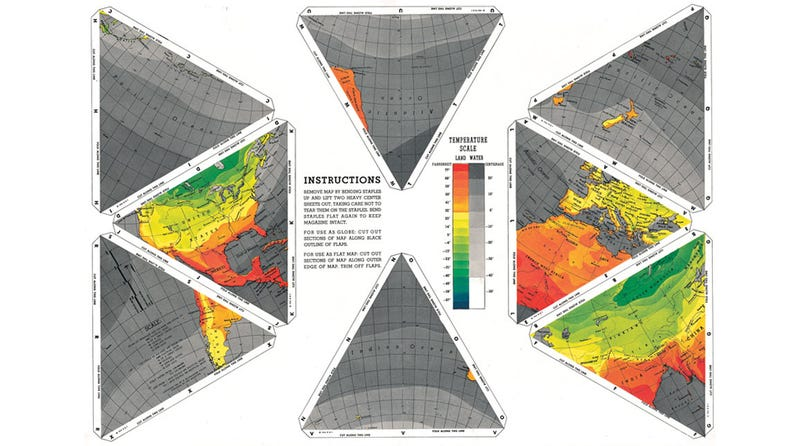 How Buckminster Fuller's Dymaxion Map Tessellated The World
