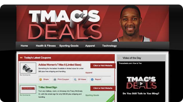 NBA Star Tracy McGrady Has a New Daily Deals Site and Everyone Is Confused