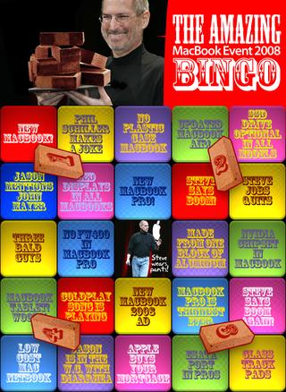 New MacBook 2008 Event Bingo: Play and Win Free Pizza
