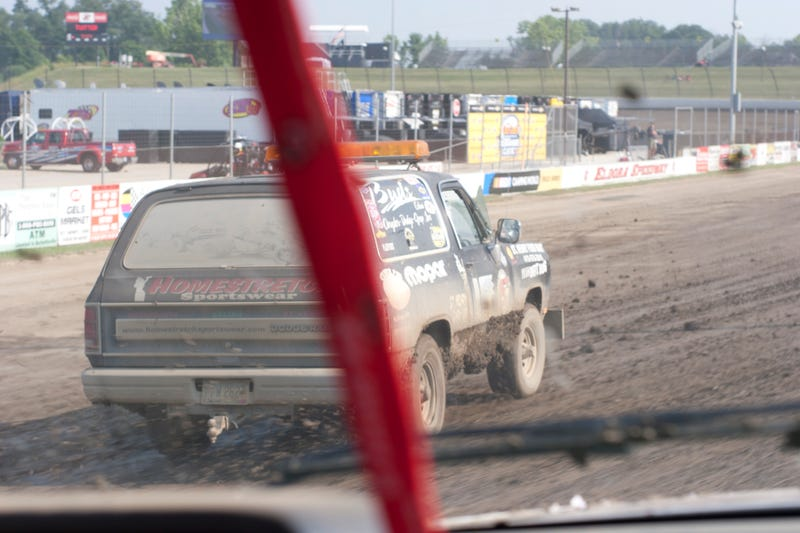 Riding In A Push Truck Around Eldora Speedway