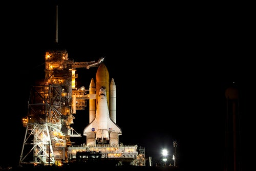 The Space Shuttle's last blaze of glory on the launch pad