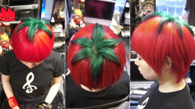 You'll Never Forget Japan's Tomato Hairdo