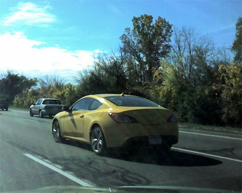 Hyundai Genesis Coupe Spotted In Metro Detroit Looking Yellow