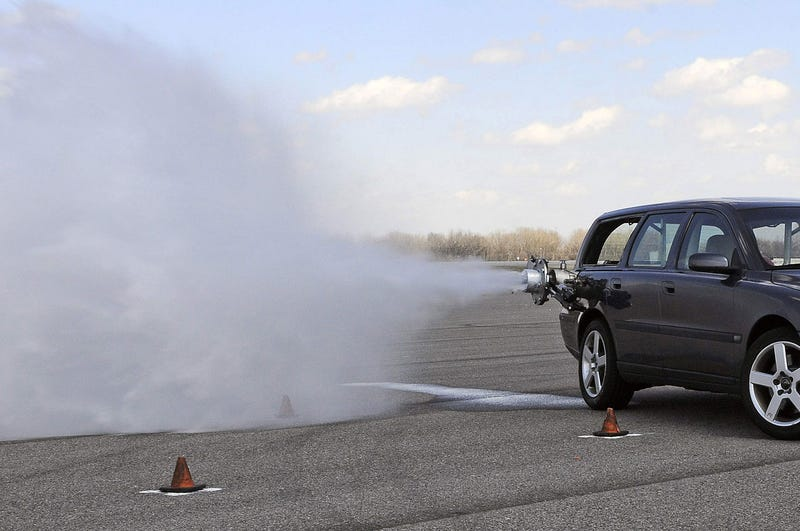 Ford Engineers Strap Giant Water Cannon To Volvo