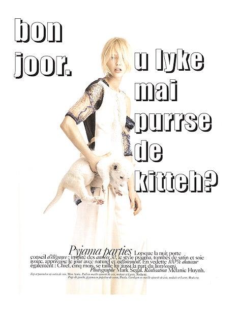 Bon Joor, C'est Paris LOLVogue Encore!