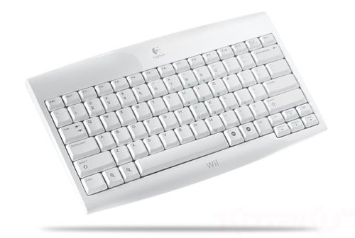 Logitech's Official Wireless Keyboard For The Wii Is, Yes, White