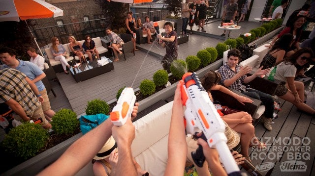 Gizmodo's Super Soaker BBQ Was a Hurricane of Beer, Ketchup, Water, and Thrills